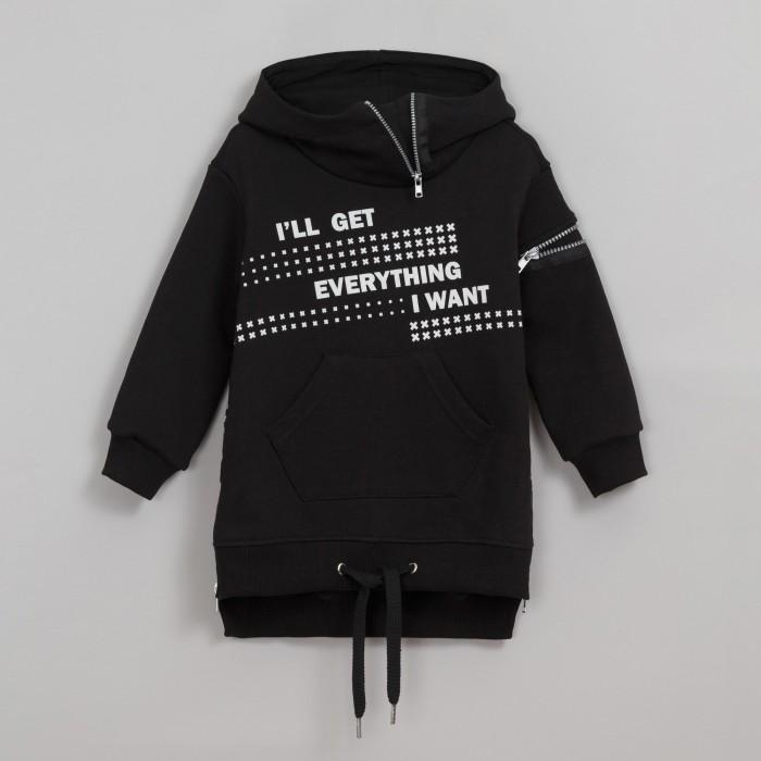 Ёмаё Толстовка-платье для девочек Хип хоп 14-409