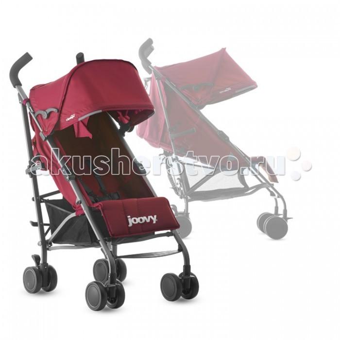 Коляска-трость Joovy Groove ultralightGroove ultralightКоляска Joovy Groove Ultralight– это облегченный вариант коляски Joovy Groove. Предназначена для малышей от 3 месяцев. Идеальна для поездок в отпуск и для использования в транспорте.   Для быстрых и активных мамочек подойдет именно такая модель городского типа, которую в нужный момент можно быстро сложить или разложить, выполнив нехитрые движения. Предназначена коляска для деток, умеющих сидеть, но если малыш уснет на свежем воздухе, то вы сможете перевести его в состояние полулежа, опустив спинку. Большой капор надежно защитит малыша от солнца и ветра.  Особенности:  Регулируемый пятиточечный ремень безопасности Съемный капор со смотровым окошком Комфортное сидение с сетчатыми кармашками для малыша Подстаканник и карман на молнии для родителей Автоматическая защелка для складывания и удобная ручка для переноски Угол наклона спинки регулируется до 149 гр Большая вместительная корзина для вещей Двухуровневая регулируемая подножка Светоотражающие элементы для безопасности в темноте Поворотные передние колеса с возможностью фиксации  Габариты:  Вес: 5.8 кг Размеры в собранном виде: 102 см x 33 см x 32 см Размеры в разобранном виде: 85 см x 53 см x 104 см Минимальный возраст: 3 месяца Макс. вес ребенка: 25 кг<br>