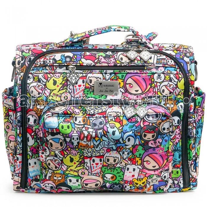 Ju-Ju-Be Сумка-рюкзак для мамы B.F.F. TokidokiСумка-рюкзак для мамы B.F.F. TokidokiJu-Ju-Be Сумка-рюкзак для мамы B.F.F. Tokidoki - уникальная, удобная и вместительная сумка для коляски, которую можно носить обычную сумку и рюкзак. Сумка BFF подстраивается под Вас: носите ее в руке (удобная мягкая ручка), на плече (удобный ремень, принимает форму плеча и не спадает), на спине, как рюкзак (специальные мягкие ремни в комплекте) или повесьте на коляску (крепления в комплект не входят).  Замечательная мама и четырехкратная чемпионка России, семикратная чемпионка Европы, двукратная чемпионка мира и двукратный призер Олимпийских игр Ирина Слуцкая со своей Ju-Ju-Be B.F.F.   Внутри сумки: Огромное основное отделение с удлиненными молниями по бокам, позволяющими открыть сумку до основания  4 кармана с легким доступом 2 кармана на молнии для мелочей Большой карман на молнии для документов или других важных вещей  Окошки для фото. Снаружи сумки: Мамино отделение с 3 кармашками, отделением для очков, резинкой-держателем для ключей (позволяет открыть дверь не отсоединяя ключи и не снимая сумку с плеча) Небольшой карман на молнии над маминым отделением с мягко подкладкой для телефона, фотоаппарата, плеера и т.п.  Отделение с мягким и удобным пеленальным матрасиком  2 термокармана для бутылочек по бокам Грязеотталкивающая пропитка, мягкая яркая подкладка с антимикробным покрытием обеспечивают чистоту Можно стирать в стиральной машине Размер матрасика: 56х31 см.<br>