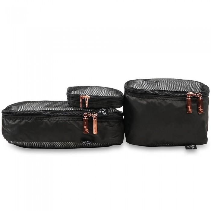 Ju-Ju-Be Сумочки Be OrganizedСумки для мамы<br>Ju-Ju-Be Сумочки Be Organized Legacy - это комплект из трех сумочек разных размеров, предназначенных для организации вещей в вашем багаже во время поездок, но не только - малые сумочки помогут вам навести комфортный порядок в вашей повседневной сумке.   Особенности: Каждая сумочка Be Organized имеет прямоугольную форму, что особенно удобно для компактного комплектования вещей без лишнего пустого пространства. Вещи не болтаются в сумке, кроме того, такое плотное содержание способствует их безопасности и лучшей сохранности Боковой периметр сумочек отделан в актуальных принтах текущей коллекции, таким образом, c Be Organized легко создать коллекцию сумочек и аксессуаров в едином стилевом решении Верхняя и нижняя панели выполнены из сетчатого прозрачного материала, поэтому вы легко можете видеть содержимое и принимать решение о необходимости использовании какой-либо вещи На верхней части по периметру расположенa молния, открывающая легкий доступ к содержимому без долгих утомительных поисков Легкие, почти невесомые стильные сумочки Be Organized не добавят веса вашему багажу, зато привнесут в него комфортный, приятный глазу порядок, сохранят в целости и сохранности ваши вещи и ваши нервы. Размер сумочек:  Большая: 15,2 #215; 25,4 х 7,6 см Средняя: 12,7 #215; 12,7 х 17,8 см Малая: 11,4 #215; 11,4 х 3,8 см.