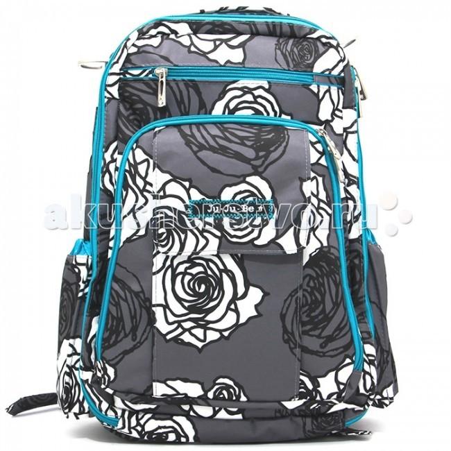 Ju-Ju-Be Рюкзак для мамы Be Right BackРюкзак для мамы Be Right BackРюкзак для мамы Ju-Ju-Be Be Right Back – функциональный, облегченный, эргономичный рюкзак для мамы, выполненный с использованием специально расположенных элементов с воздухообменной сеткой. Благодаря правильному и безопасному распределению нагрузки, носить Ju-Ju-Be Be Right Back за спиной легко и комфортно, при необходимости можно закрепить на коляске (клипсы-крепления к коляске не входят в комплект и приобретаются отдельно). Рюкзак создан на основе пользовательских отзывов и пожеланий, сочетает в себе стандартные функции и новые технологические разработки, а также, неповторимый фирменный стиль Ju-Ju-Be в каждой детали!  Функциональные особенности рюкзака Ju-Ju-Be Be Right Back:  Вместительное основное отделение на молнии с сетчатыми карманами для вещей и держателем для подгузников  Внешнее отделение на молнии с разнообразными кармашками для маминых вещей (документы, телефон, очки и пр.) и ремешком-резинкой для ключей, снаружи предусмотрен дополнительный карман с застежкой на бесшумном магните и окошком для фотографии малыша  Верхний внешний карман на молнии для MP3-плеера, очков или цифровой камеры  Отдельный задний карман с застежкой на молнии для пеленального коврика, подойдет также для «таблеток» и небольших ноутбуков, журналов или книг средних размеров Два внешних боковых термокармана для бутылочек, выполненных по технологии 3M Thinsulate, позволяющей длительное время сохранять температуру детского питания и напитков АНТИ-микробное покрытие подкладки с ионами серебра и тефлоновое покрытие внешней ткани, предохраняющее сумку от дождя, снега и непогоды Эргономические, изогнутые, мягкие плечевые лямки для ношения за спиной и легко захватываемая ручка для переноски в руке Надежное и безопасное крепление к коляске, позволяющее быстро одевать и снимать сумку. Клипсы для крепления сумки на коляску продаются отдельно В комплекте с рюкзаком: коврик для пеленания, мягкий и удобный, очень нравится детям, п