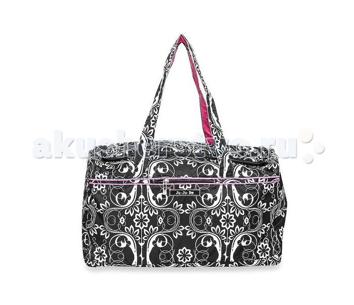 Ju-Ju-Be Сумка для мамы StarletСумка для мамы StarletЕсли вам нужна легкая сумка для однодневных путешествий, поездок за город или на фитнесс, значит сумка Ju.Ju.Be Starlet - ваша мечта которая наконец-то сбылась.  В эту сумку поместится столько вещей, что вы будете удивлены. Удобное открытие основного отделения, молния располагается в верхней части сумки чтобы вы могли легко посмотреть что внутри!  Передний внешний карман, идеально подходит для вашего паспорта!  Для удобства предусмотрены наружные карманы для быстрого и легкого доступа, когда вы находитесь в дороге.  Легко складывается и не занимает много места, вы можете положить сумку в чемодан и возвращаясь обратно сложить в нее покупки сделанные на отдыхе.  пропитка внешней ткани TEFLON светлая, яркая атласная подкладка с ионами серебра AgION™, чтобы вы могли найти вещи легко и быстро   Уход: можно стирать в стиральной машинке – рекомендуется сушка на открытом воздухе.  Размер: 45 см*29,21 см* 27,3 см Вес: 0,397 гр<br>