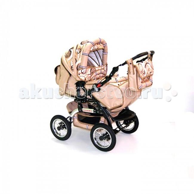 Коляска-трансформер Kacper GlossoGlossoДетская коляска трансформер Kacper Glosso (надувные колеса) подарит действительно комфортные прогулки, поскольку она спроектирована с учетом всех требований безопасности, а также снабжена всем необходимым для хороших и уютных прогулок. В комплект входит люлька-переноска с жестким дном, которая подходит для деток от 0 до 6 месяцев, а также прогулочный блок, в котором можно перевозить детей старше 6 месяцев.  Жесткое дно люльки обеспечивает максимально удобное положение позвоночника ребенка, а регулировка спинки дает возможность расположить малыша максимально удобно. Высота перекидной ручки может меняться, а подножка дает возможность снизить нагрузку на ноги. Плавное катание на различном рельефе обеспечивает система амортизации. А пятиточечные ремни безопасности позволяют удержать ребенка в коляске.   Особенности: колеса надувные амортизация-пружины надежная тормозная система регулируемая спинка (три положения) пятиточечные ремни безопасности на каждом посадочном месте удобная перекидная ручка подножка регулируется по высоте пристегиваемый поручень вентиляционные окна 100% х/б ткани с водоотталкивающей пропиткой  Комплектация: люльки-переноска для новорожденного (жесткое дно) водонепроницаемый чехол на ножки сумка для детских мелочей корзина для покупок москитная сетка дождевик  Вес коляски: 18 кг<br>