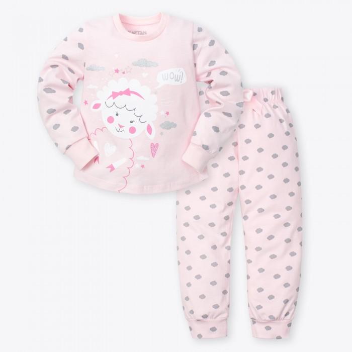 Домашняя одежда, Kaftan Пижама для девочки (брюки, джемпер) Барашек  - купить со скидкой