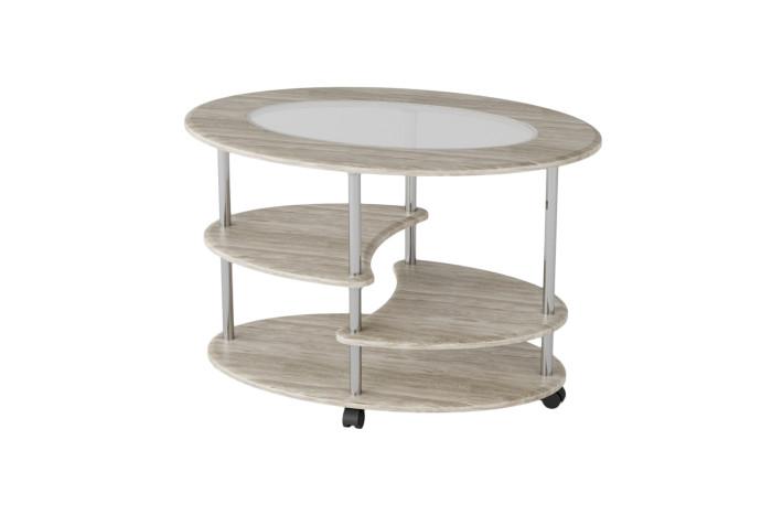Детские столы и стулья Калифорния мебель Стол журнальный Эллипс со стеклом