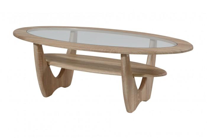 Калифорния мебель Стол журнальный Юпитер со стеклом