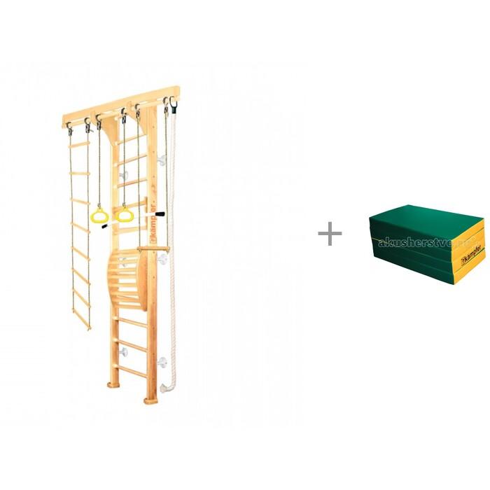 Картинка для Kampfer Шведская стенка Wooden ladder Maxi Wall высота 3 м и мат №7 (200х100х10) складной Kampfer