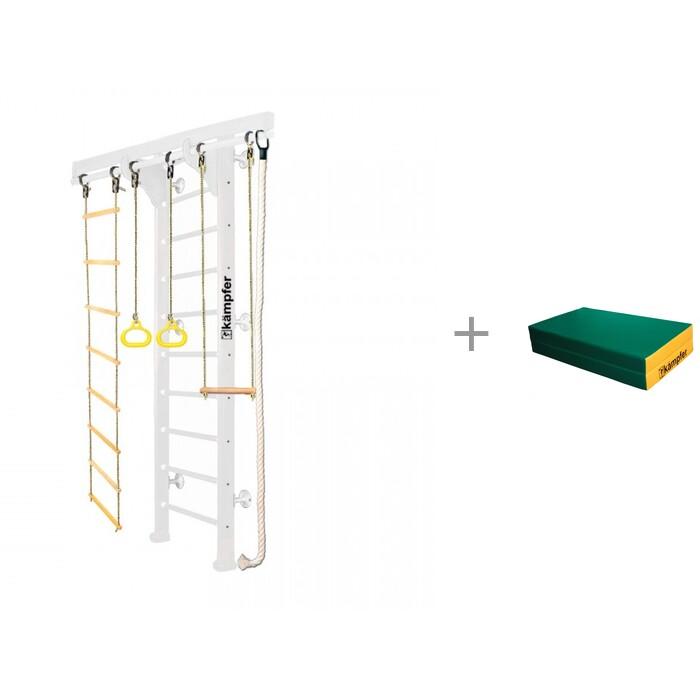 Купить Шведские стенки, Kampfer Шведская стенка Wooden Ladder Wall Стандарт и Мат №4 (100х100х10) складной