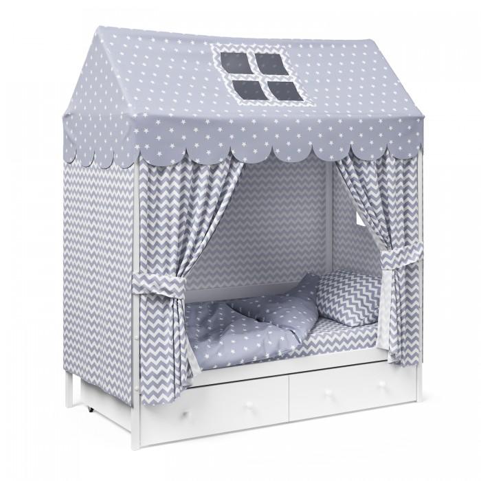 Комплект в кроватку Капризун Домик (12 предметов) фото