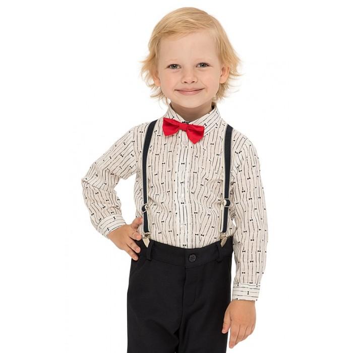 Рубашки Карамелли Верхняя сорочка с бабочкой для мальчика