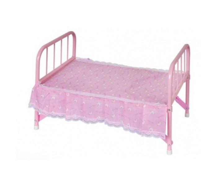 Кроватка для куклы Карапуз металл с матрасом