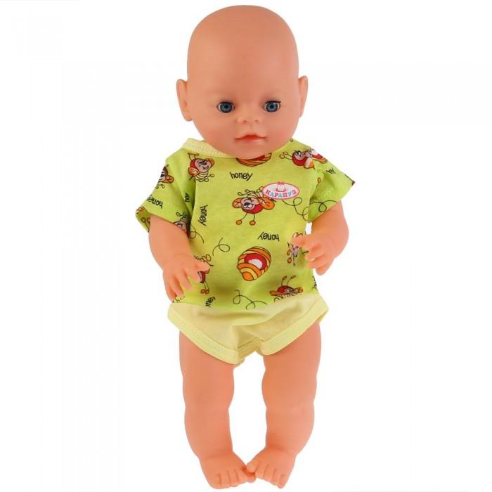 Куклы и одежда для кукол Карапуз Одежда для кукол боди Пчелки 40-42 см
