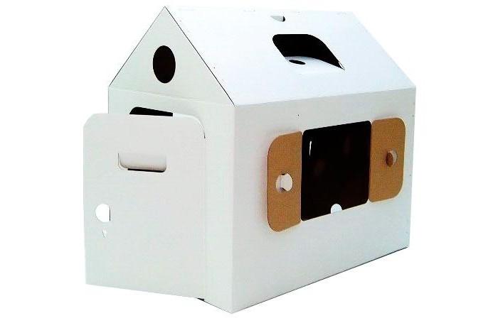 Картонный папа Игровой домик из картона Мини домик