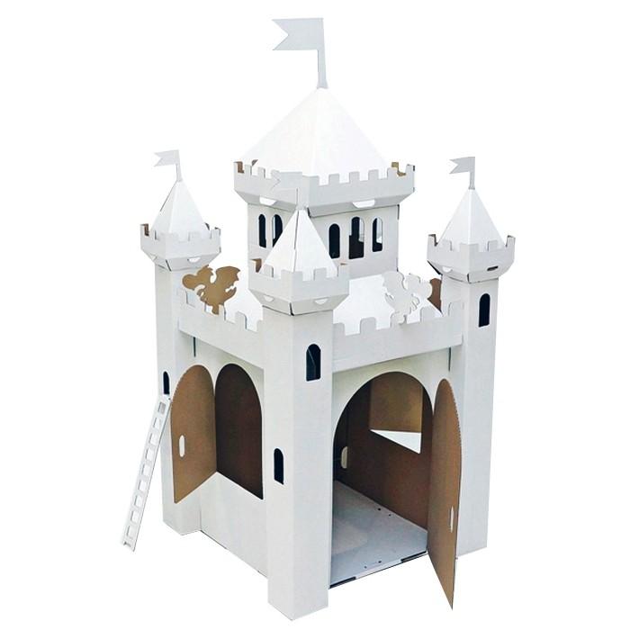 Картонный папа Игровой домик из картона Сказочный замок