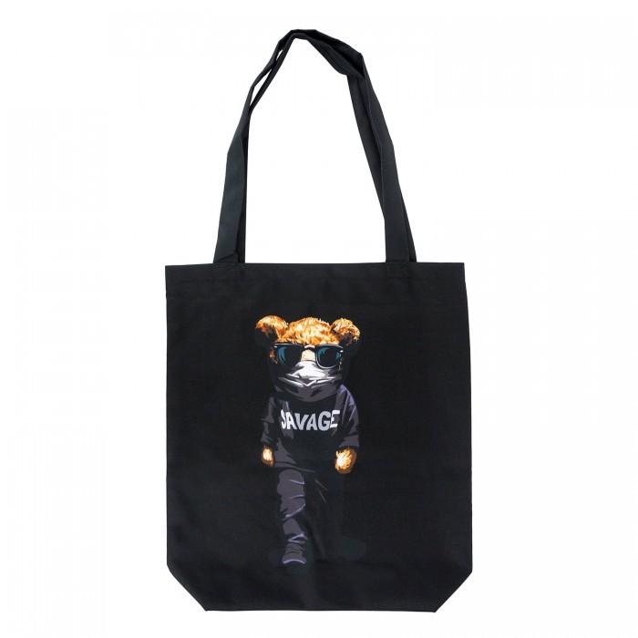 Сумки для мамы Kawaii Factory Эко-сумка шоппер с принтом Мишки в черном зонты kawaii factory складной мишки и кексики