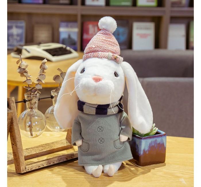 Мягкая игрушка Kawaii Factory Игрушка-подушка Зайка Рассел 27 см