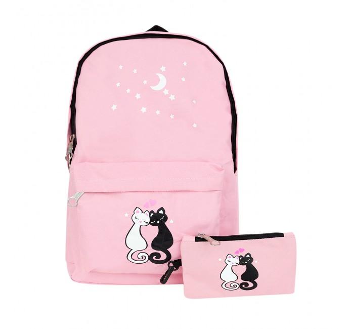 Купить Школьные рюкзаки, Kawaii Factory Рюкзак с комплектом Два кота