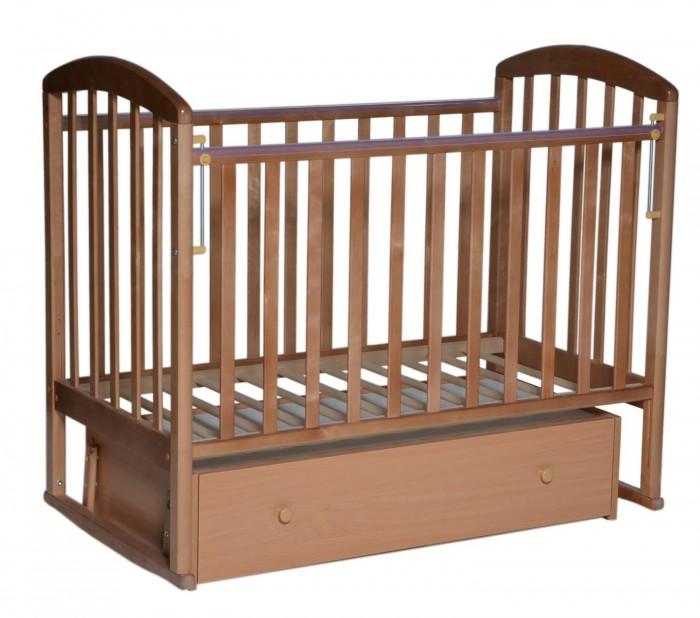 Детские кроватки Кедр Любаша 3 с ящиком (поперечный маятник)