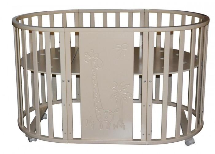 Кроватка-трансформер Кедр Sofia 1 Giraffe 6 в 1 (колесо)