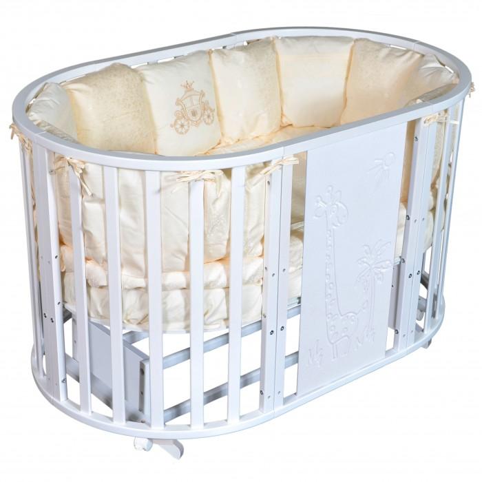 Купить Кроватки-трансформеры, Кроватка-трансформер Кедр Sofia 2 Giraffe 6 в 1 (универсальный маятник + колесо)