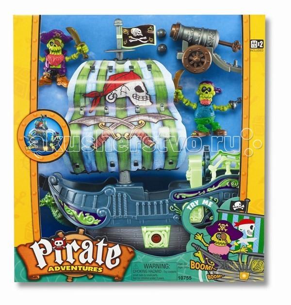 Игровые наборы Keenway Игровой набор Приключение пиратов. Битва за остров игровые наборы tomy игровой набор приключения трактора джонни и лошади на ферме