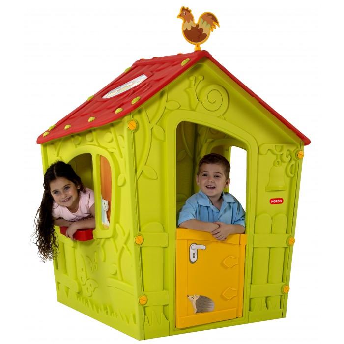 Keter Игровой домик Magic Play HouseИгровой домик Magic Play HouseKeter Magic Play House - идеальное место для игр вашего малыша. Благодаря упрочненному гигиеничному пластику из современных материалов яркой расцветки, этот домик станет украшением как сада или двора, так и помещения. Домик легко собирается, не выгорает на солнце и не боится мороза. Замечательная игровая зона для ваших детей. Компактная, но при этом вместительная конструкция позволит увлеченно ребенку проводить время. Красочный дизайн порадует глаз. Для сборки не требуется никаких инструментов, а сам процесс займет всего пару минут.  Материалы: - долговечный пластик, устойчивый к выгоранию  Особенности: - рекомендуется для детей от 2-3-х лет - прочная конструкция - быстро собирается и компактно складывается - все элементы соединяются между собой специальными защелками и гайками, входящими в комплект - не требует специального инструмента для сборки и разборки - удобный красивый вместительный домик для веселой игры на свежем воздухе - яркие цвета и оригинальный дизайн  - дверь открывается как у настоящего дома - подходит как для одного малыша, так и для коллективных игр.  Общие размеры(дхшхв): 110х110х146 см Габариты в упаковке: 130x100x15 см Объем: 0.19 м3 Масса: 13 кг<br>