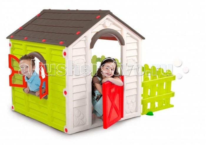 Keter Игровой домик My GardenИгровой домик My GardenKeter My Garden - идеальное место для игр вашего малыша. Благодаря упрочненному гигиеничному пластику из современных материалов яркой расцветки, этот домик станет украшением как сада или двора, так и помещения. Домик легко собирается, не выгорает на солнце и не боится мороза. Замечательная игровая зона для ваших детей. Для сборки не требуется никаких инструментов, а сам процесс займет всего пару минут. Игровой домик с окном и подоконником для цветов, также есть внутренняя полочка. Повседневный отдых для детей станет комфортней и интересней. Вы сможете расслабиться, зная что ваши дети играют в безопасности, будь это внутри помещения или в вашем дворе. Способен выдерживать дождь, ветер и снег, при этом достаточно легкий, чтобы передвигать его в вашем дворе.   Материалы: - долговечный пластик, устойчивый к выгоранию  Особенности: - рекомендуется для детей от 2-3-х лет - прочная конструкция - быстро собирается и компактно складывается - все элементы соединяются между собой специальными защелками и гайками, входящими в комплект - не требует специального инструмента для сборки и разборки - удобный красивый вместительный домик для веселой игры на свежем воздухе - окно c подоконником для цветов, внутренняя полочка - подходит как для одного малыша, так и для коллективных игр  Общие размеры (дхшхв): 156х118х117 см Габариты в упаковке: 122x104x19 см Объем: 0.24 м3  Масса: 18.2 кг<br>