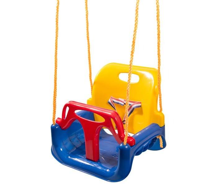 Качели Kett-Up 3 в 1Качели<br>Безусловно, дети любого возраста любят раскачиваться на качелях. И для разного возраста ребенка требуется различные конструкции. Например, малышам нужна модель, которая поддерживает его со всех сторон и максимально безопасна. Тем, кто постарше наоборот требуются качели без боковых упоров и спинки, чтобы ребенок мог самостоятельно раскачаться.  Чтобы Вам не пришлось приобретать новую модель качелей через каждые 2-3 года, вы можете приобрести качели 3 в 1. Вы можете снять все детали и оставить только сиденье. Такой вариант подойдет для детей, что постарше. Дальше на конструкции можно закрепить заднюю спинку и передний блок для страховки маленьких детей. Кроме пластмассовых частей в модели предусмотрены резиновые ленты, которые полностью исключают любой травматизм для ребенка.  Если вы планируете приобрести качели для общего пользования или у вас несколько детей разных возрастов, то качели 3 в 1 станут для вас самым практичным решением.  Размеры: 42 х 33 х 38 см., длина веревок 2 м.