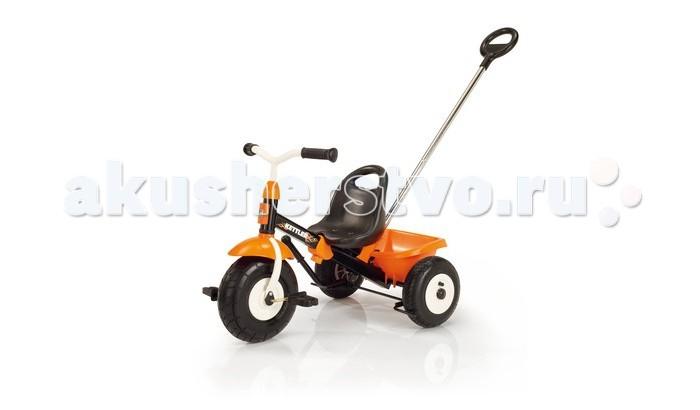 Велосипед трехколесный Kettler Happytrike AirHappytrike AirHappytrike Air - Яркий трехколесный велосипед с надувными колесами.  Есть возможность регулировки рамы по длине и функция фиксации руля в прямом положении.  Откидывающийся кузов.  Ручной тормоз на задние колеса.  Особенности: Рама раздвигается 4 раза (велосипед ростёт с Вашим ребёнком) или разбирается на две части для удобной транспортировки в багажнике автомобиля. Предохранительная крышка в месте соединения руля с рамой. Есть возможность фиксации руля в среднем положении для удобства при толкании. Широкие колёса с декоративными дисками. Переднее колесо с возможностью отключения вращения педалей для безопасности ног ребёнка при толкании. Повышенная устойчивость за счёт низко посаженного центра тяжести. Сиденье с высокой спинкой. Ручной тормоз, действующий на оба задних колеса. Откидывающийся кузов с фиксатором. Делящаяся пополам ручка для толкания с возможностью регулировки высоты для подгонки под рост родителя Стабильные педали. подгонки под рост родителя Легко разбирается пополам для перевозки в автомобиле!  Размер (ДШВ): 63-75х55х51 см. Габариты коробки (ДШВ): 52х23х52 см. Вес: 8 кг. Вес в упаковке: 9,7 кг.<br>