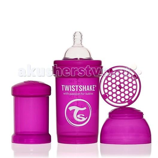 Бутылочки Twistshake с контейнером 180 мл контейнер для смеси