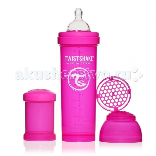Бутылочки Twistshake с контейнером 330 мл контейнер для смеси