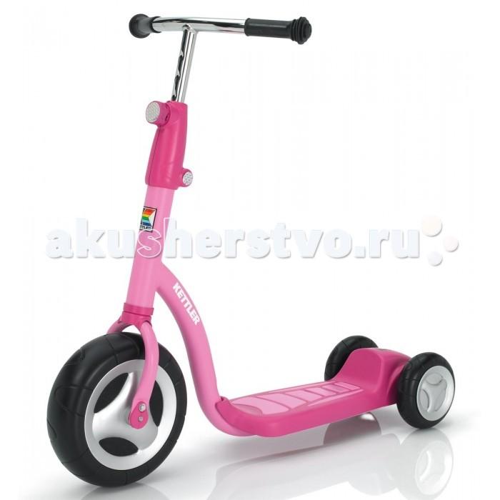 Самокат Kettler ScooterScooterСамокат Kettler Scooter   Особенности: - Высокопрочная рама, покрытая невыгорающей краской - Регулировка руля по высоте - Широкое переднее колесо - Два задних колеса для устойчивости - Размер: 80х23х62-81 - Вес: 5.5кг - Производство: Kettler<br>