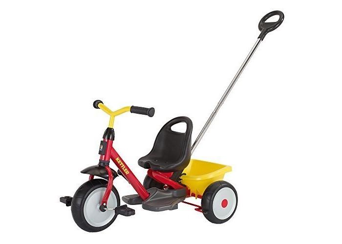Велосипед трехколесный Kettler StartrikeStartrikeтрехколесный велосипед Startrike с ручкой для родителей  Особенности: - высококачественная рама из трубы с туннельным профилем, покрытая прочным не выгорающим полиэстеровым покрытием  - предохранительная крышка в месте соединения руля с рамой - широкие колёса - переднее колесо с возможностью отключения вращения педалей для безопасности ног ребёнка при толкании - повышеная устойчивость за счёт низкопосаженого центра тяжести - сиденье с высокой спинкой - откидывающийся кузов с фиксатором - делящаяся пополам ручка для толкания с возможностью регулировки высоты для подгонки под рост родителя - стабильные педали  Спецификации: Размер (см): 72 х 50 х 50  Вес: 7,0 кг<br>