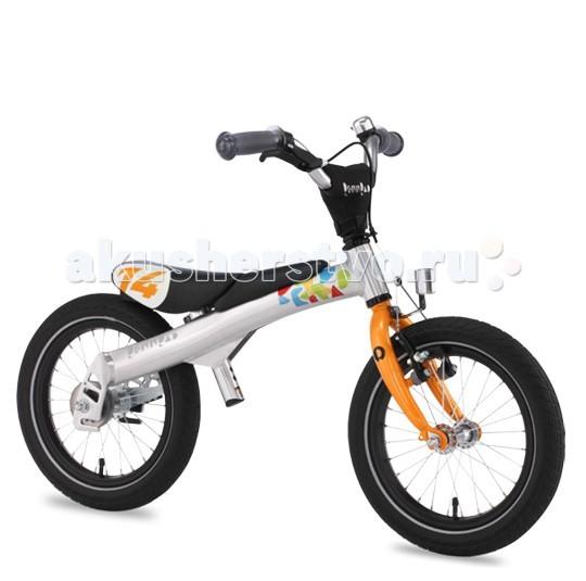 Беговел Rennrad Велосипед 2 в 1 14Велосипед 2 в 1 14Rennrad Беговел-велосипед 2 в 1 14   Благодаря беговелу-велосипеду Rennrad два в одном ваш ребенок легко и быстро научится держать равновесие. Rennrad – это велосипед, специально разработанный в Германии для детей, большинство деталей которого изготовлено из высококачественного алюминиевого сплава.  Особенности: Он прошел проверку Государственной инспекции безопасности и соответствует требованиям жестких стандартов и правил.  Его съемные педали разработаны с помощью врачей ортопедов и педиатров, чтобы помочь детям легко и безопасно научиться балансировать, наклоняться на велосипеде и управлять им с помощью руля.  Его уникальная беспедальная конструкция (режим беговела) придает ребенку чувство уверенности и исключает страх, позволяя детям держать ноги на земле и катиться вперед, балансируя и отталкиваясь в своем собственном темпе. Это позволяет им полностью наслаждаться поездкой на велосипеде-беговеле Rennrad. Когда дети становятся старше и уверенно держат равновесие, педали можно установить на место, и беговел Rennrad превратится в полноценный детский велосипед.  Конструкция «два в одном» позволяет детям пользоваться своим велосипедом долгое время. Легкая алюминиевая рама имеет специальную форму, которая обеспечивает наилучшую жетскость конструкции и исключает возможные деформации в процессе эксплуатации.  Специальная мягкая накладка на верхней части рамы, обеспечивает комфорт малышу во время катания на беговеле и обеспечивает дополнительную защиту от возможных травм.  Все компоненты беговела-велосипеда - седло, педали, шатуны, рулевые и тормозная ручка разработаны с учетом детской анатомии и обеспечивают дополнительный комфорт.  Передняя звезда, цепь и задняя звездочка полностью закрыты пластиковым чехлом, что обеспечивает безопасность и чистоту рабочих поверхностей во время катания.  Легкие шины Innova slick имеют оптимальный протектор-рисунок, обеспечивающий наименьшее сопротивление качению и как результат - наи