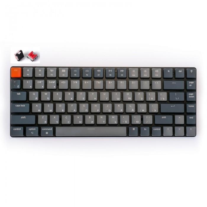 Аксессуары для компьютера Keychron Беспроводная механическая ультратонкая клавиатура K3 84 клавиши RGB