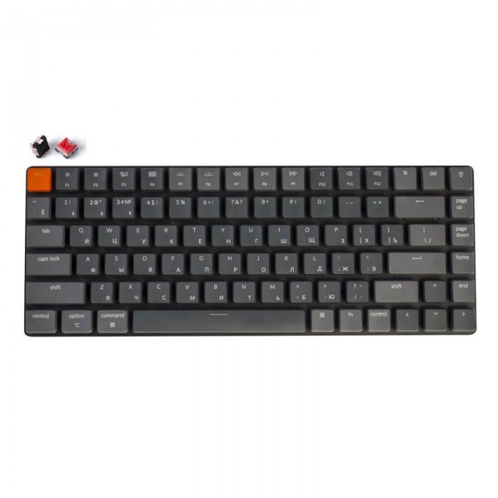 Keychron Беспроводная механическая ультратонкая клавиатура K3, 84 клавиши, White LED подстветка