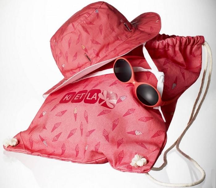 Ki ET LA Набор из панамы двухсторонней UPF 50+ 6-12, очков и пляжной сумки