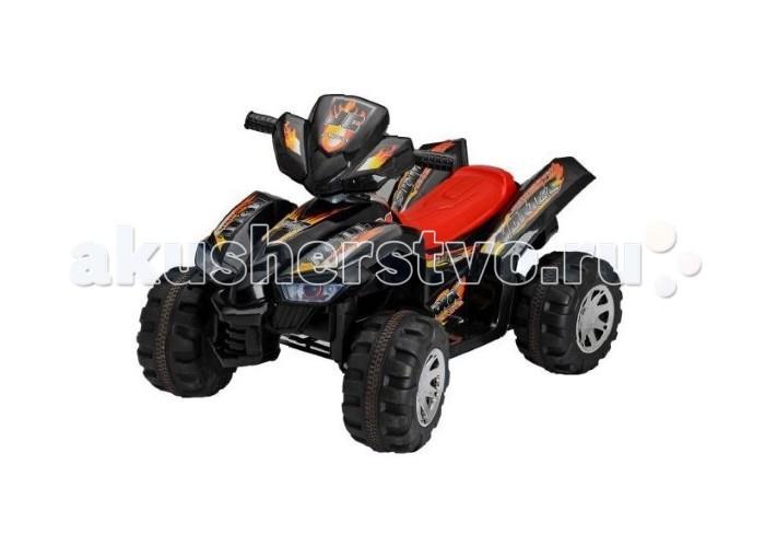 Электромобиль TjaGo Sport-JCSport-JCЭлектромобиль TjaGo Sport-JC - детский квадроцикл на аккумуляторе HD8068. Для детей от 3-х до 7 лет.   Характеристики: предназначен для детей от 3-х до 7 лет скорость: 3.5-4.5 км/ч аккумулятор: 6V7AHх2, 2 двигателя 1 посадочное место колеса пластик и резина газ и тормоз совмещены в одной педали (нажатие-газ, отпускание педали - тормоз) яркий дизайн максимальная нагрузка: 30 кг  В комплекте: аккумулятор зарядное устройство  Размеры (дхшхв) 92x60.5x61.5 см Вес 9.8 кг  Электромобили TjaGo имеют стильный, яркий дизайн, выполнены из качественных, надежных материалов и очень похожи на настоящие машины. За рулем электромобиля ребенок чувствует себя самостоятельным и взрослым. Ассортимент продукции TjaGo довольно широк, в зависимости от потребностей и предпочтений можно выбрать одно- или двуместные электромобили, со световыми эффектами, моргающими фарами, музыкой, звуковыми сигналами, имитирующими рев мотора, звук тормозов и т.п.   Детский электромобиль будет замечательным подарком, как для мальчика, так и для девочки. Безопасность, надёжность, простота в управлении позволят родителям быть спокойными за своих детей, а детям наслаждаться бесценными впечатлениями от езды на собственном автомобиле!<br>