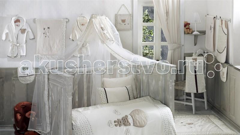 Балдахин для кроватки Kidboo Cute BearCute BearБалдахин Kidboo Cute Bear украсит кроватку Вашего малыша, защитит его от укусов комаров и других насекомых, а также уменьшит попадание света для крепкого и здорового сна.  Подходит для всех стандартных держателей балдахина.  Размер 450х150 см.<br>