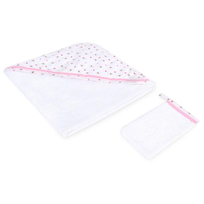 Полотенца Kidboo Комплект полотенце-уголок + варежка Cute Bear полотенца kidboo комплект полотенце уголок варежка butterfly