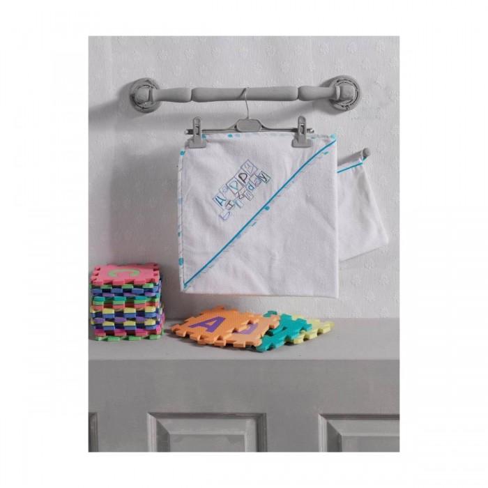 Полотенца Kidboo Комплект полотенце-уголок + варежка Happy Birthday миниатюра варежка цвет серебристый 6 см
