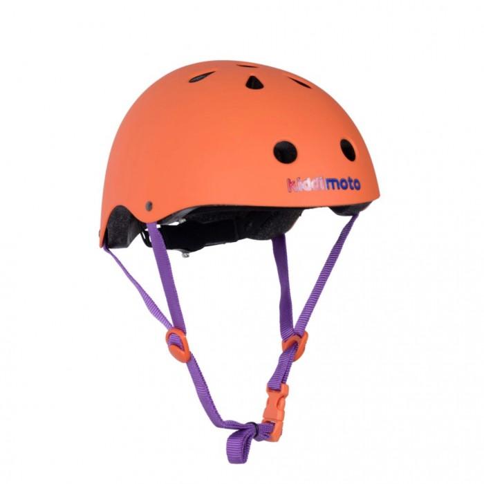 KiddiMoto Шлем детский МатовыйШлемы и защита<br>KiddiMoto Шлем детский Оранж матовый для защиты головы ребенка при падении с велосипеда, самоката, скейта, роликов и др. детского транспорта. Сверхлегкий корпус из ABC пластика.   Внутренний корпус из EPS пены со съемной амортизирующей подкладкой. 11 отверстий для вентиляции. Посадка шлема регулируется сзади с помощью притяжного колесика. Регулирующиеся стропы.   Размеры: S 48-53 см и M 53-58 см.