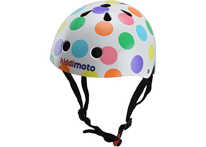 Купить Шлемы и защита, KiddiMoto Шлем детский Разноцветные горошки