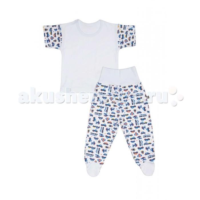 Комплекты детской одежды Kiddy Bird Комплект №12 Футболка и ползунки короткие Машинки комплекты нательные для малышей kiddy bird ползунки огурцы 2 шт