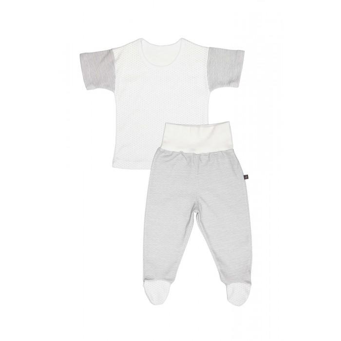 Комплекты детской одежды Kiddy Bird Комплект №12 Футболка и ползунки короткие Точки-полоски комплекты нательные для малышей kiddy bird ползунки огурцы 2 шт