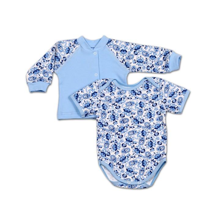 Комплекты детской одежды Kiddy Bird Комплект Гжель (кофточка+боди)