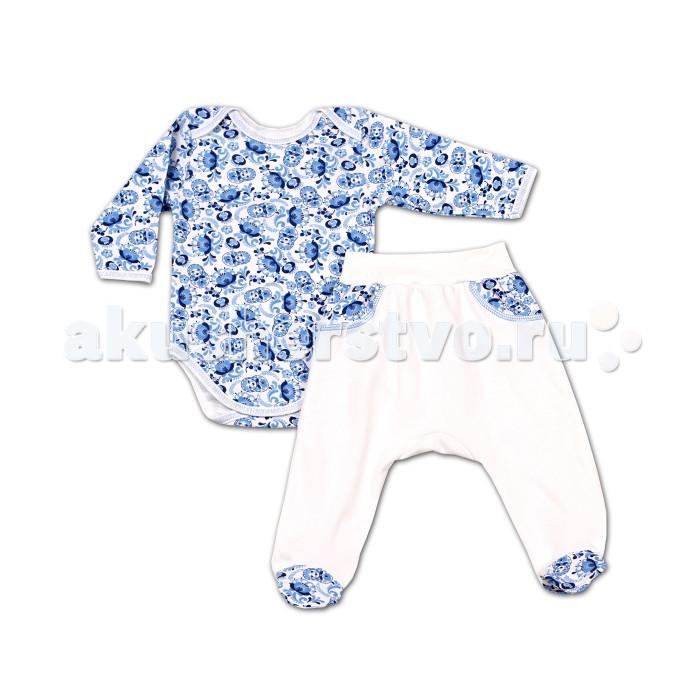 Комплекты детской одежды Kiddy Bird Комплект Гжель (ползунки+боди)