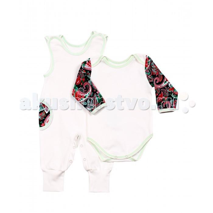 Комплекты детской одежды Kiddy Bird Комплект Ретро (полукомбинезон+боди)