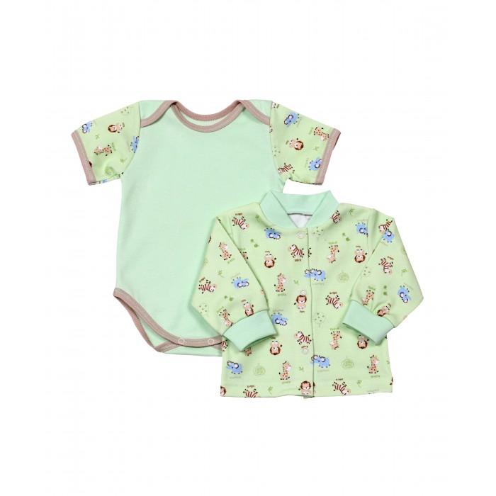 Комплекты детской одежды Kiddy Bird Комплект Зоопарк (кофточка+боди)