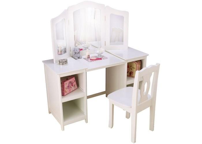 Столы и стулья KidKraft деревянный туалетный столик трельяж для девочек Делюкс